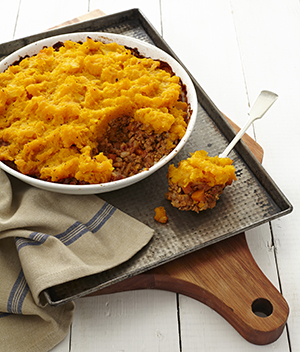 butternut and lentil cottage pie