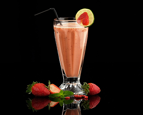 Rooibos Strawberry and Orange smoothie