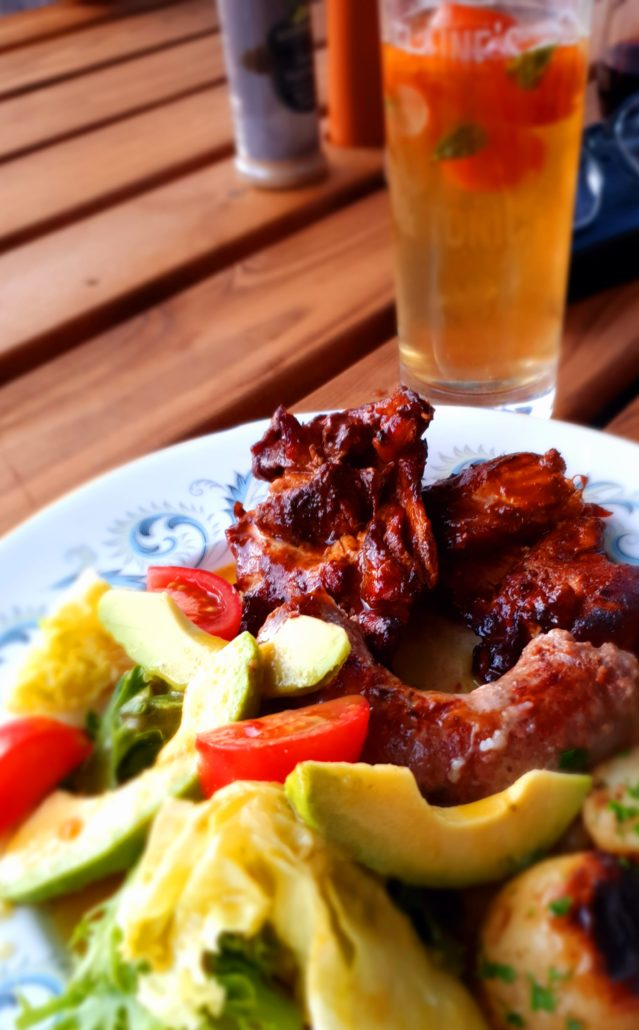 Braaied chicken with rooibos marinade